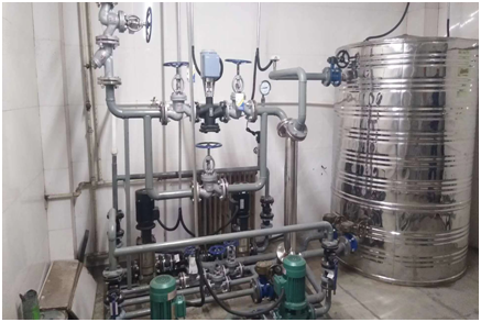 蒸汽洗浴热水换热机组案例