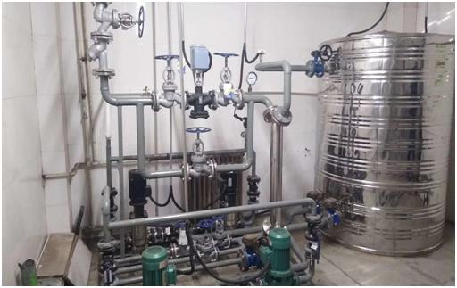米泉水泥厂蒸汽洗浴热水换热机组案例